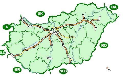 карта платных дорог Венгрии