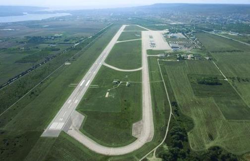 вид сверху на аэропорт Варна