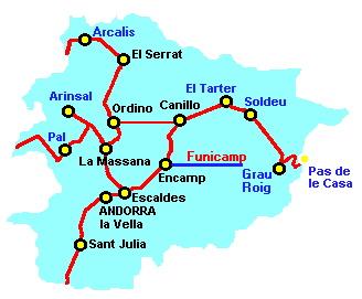 карта автомобильных дорог Андорры