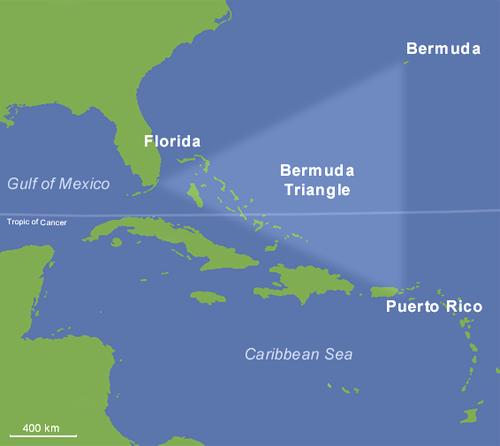 карта Бермудского треугольника