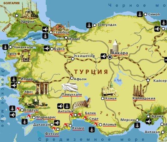 Еще одна карта побережья на которой