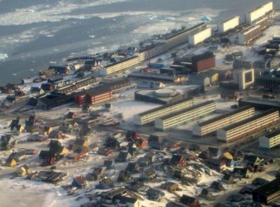 обзорный вид города Нуук