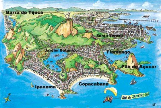 карта Рио-де-Жанейро