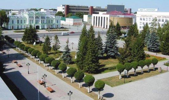 город Уральск в Казахстане