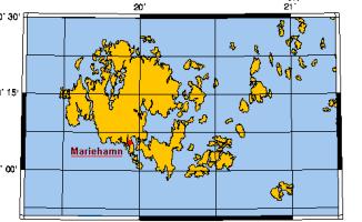 Карта Аландских островов