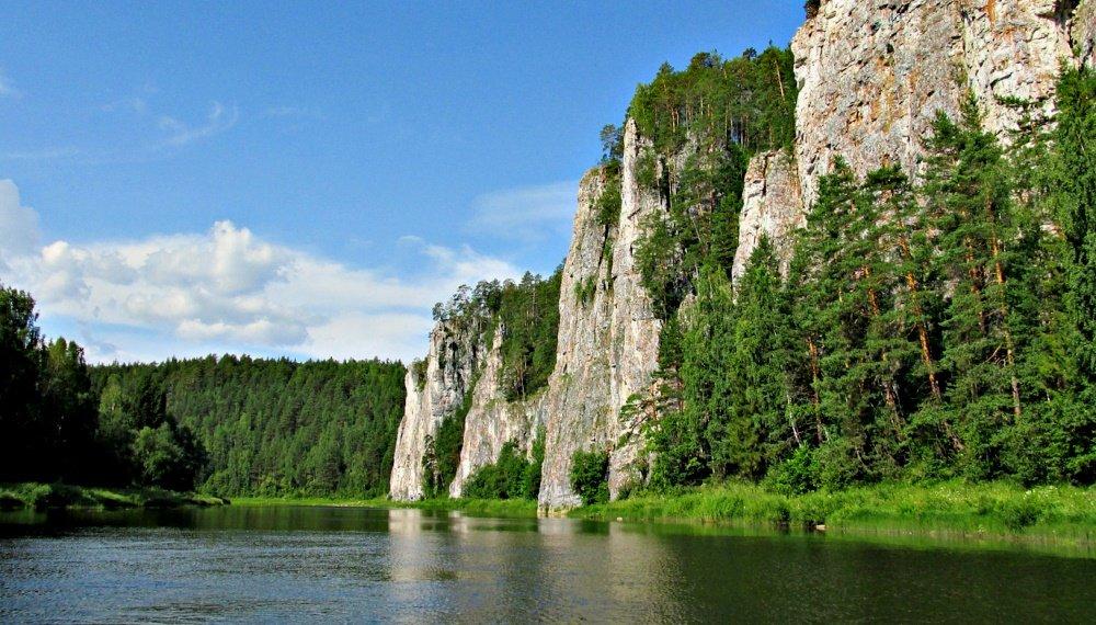 река Чусовая в Пермском крае
