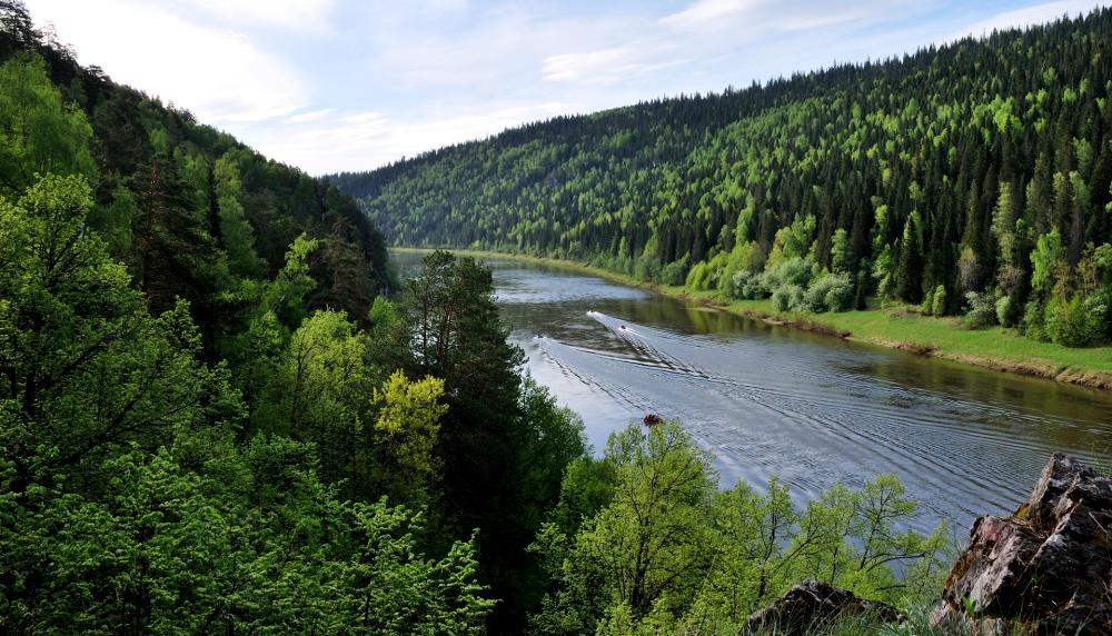 река Чусовая в Свердловской области