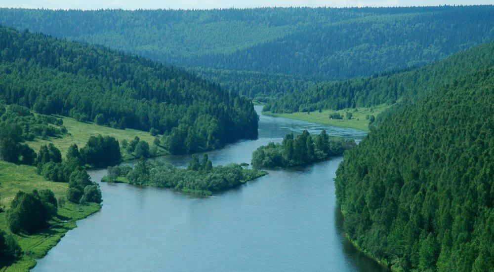 река Косьва в Пермском крае