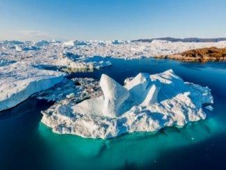 Рельеф дна около Гренландии