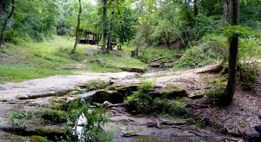 Парк в селе Иванча в Молдове