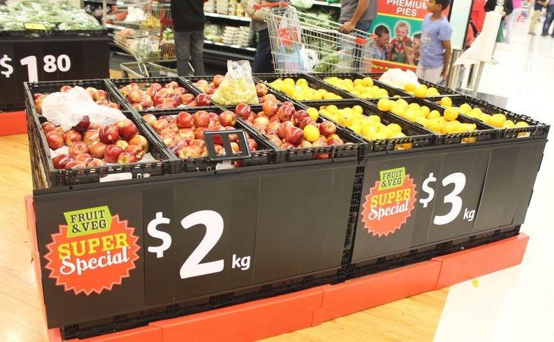 цены в отделе фруктов