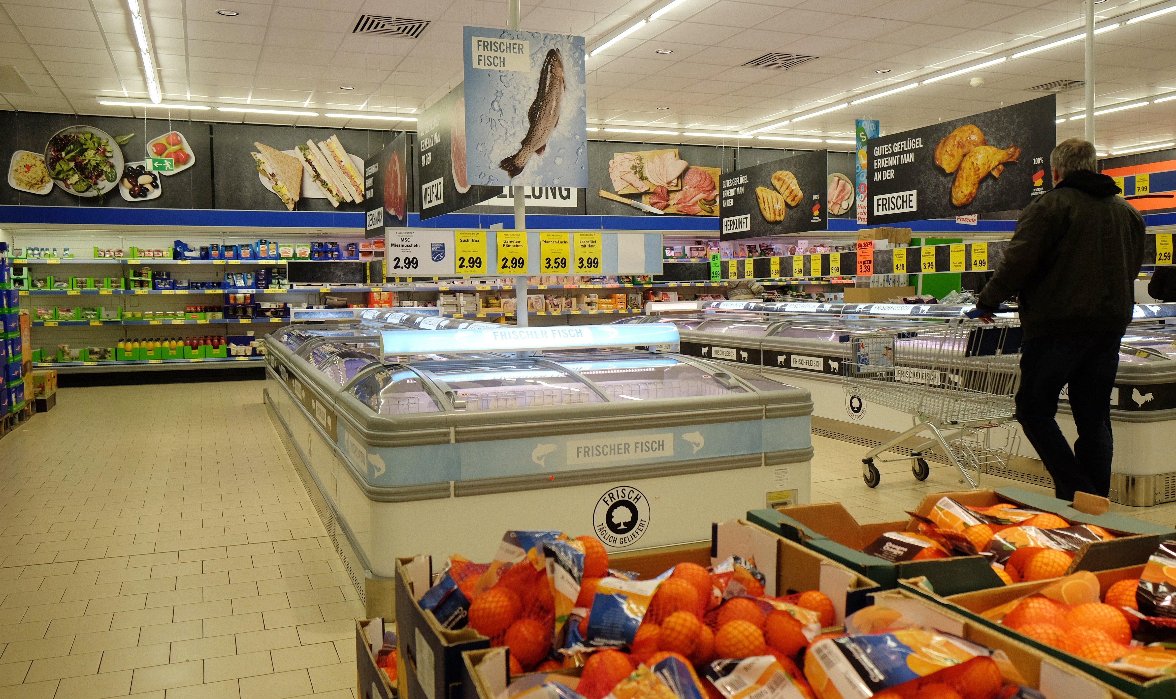 цены в Германии на продукты в супермаркете