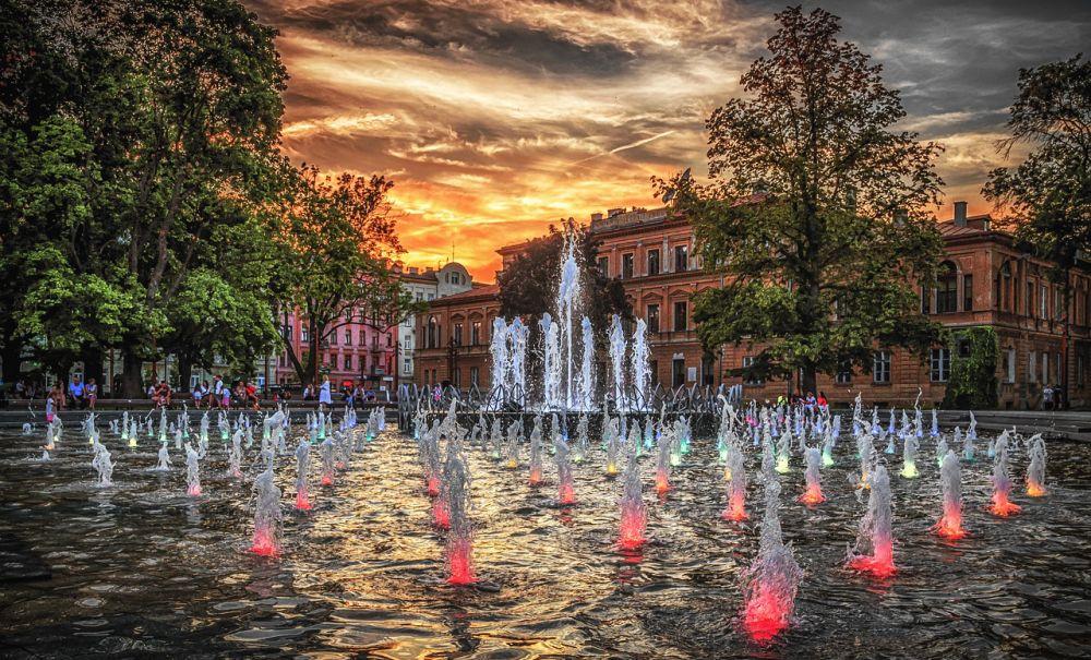 фонтан в Люблине
