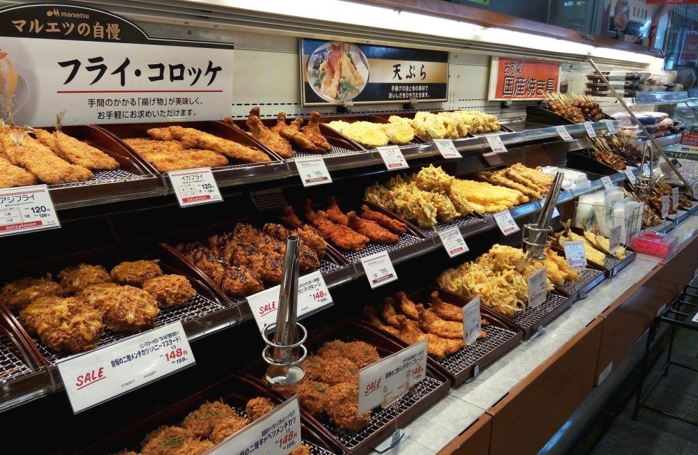 цены на готовую еду в супермаркете Токио