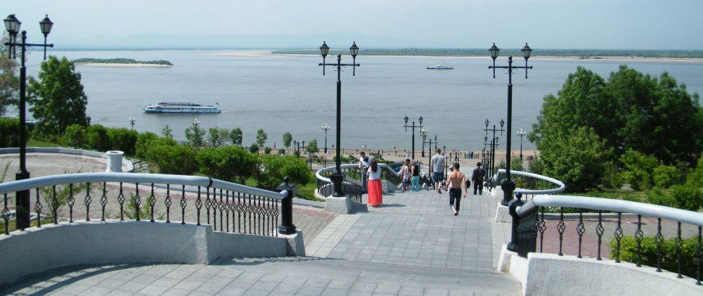 набережная в Хабаровске
