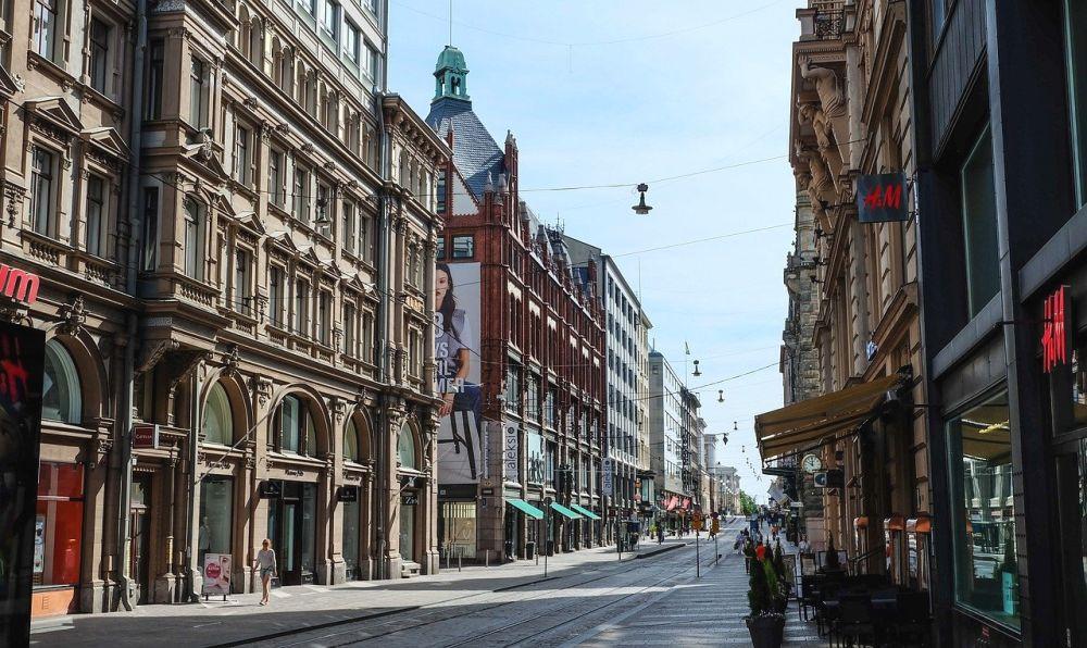 улица в Хельсинки